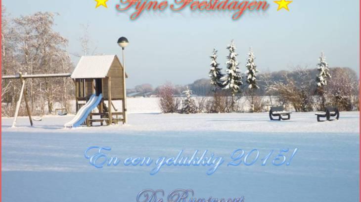 Fijne kerstdagen en een voorspoedig nieuwjaar